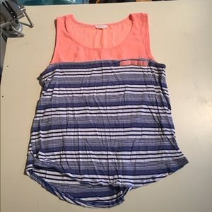 Cute Summer Tank - Pink and Blue